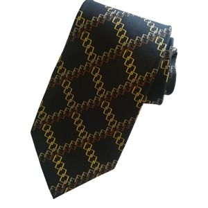 🇨🇦 Vintage authentic Fendi FF silk logo tie